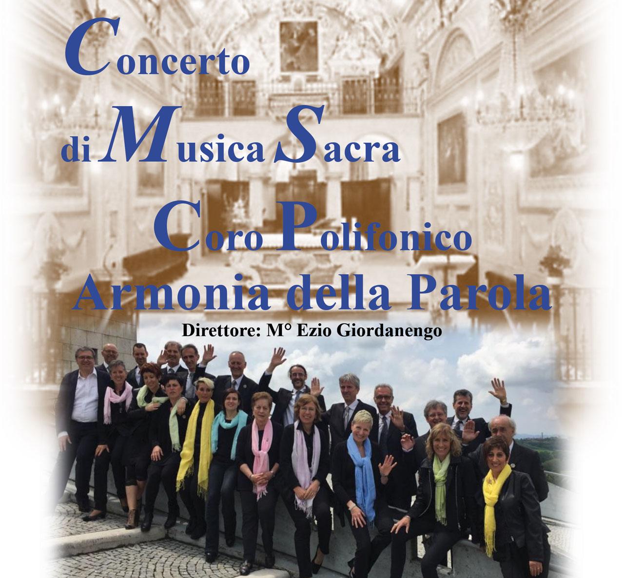 Concerto Corale di Musica Sacra, parrocchia di San Dalmazzo