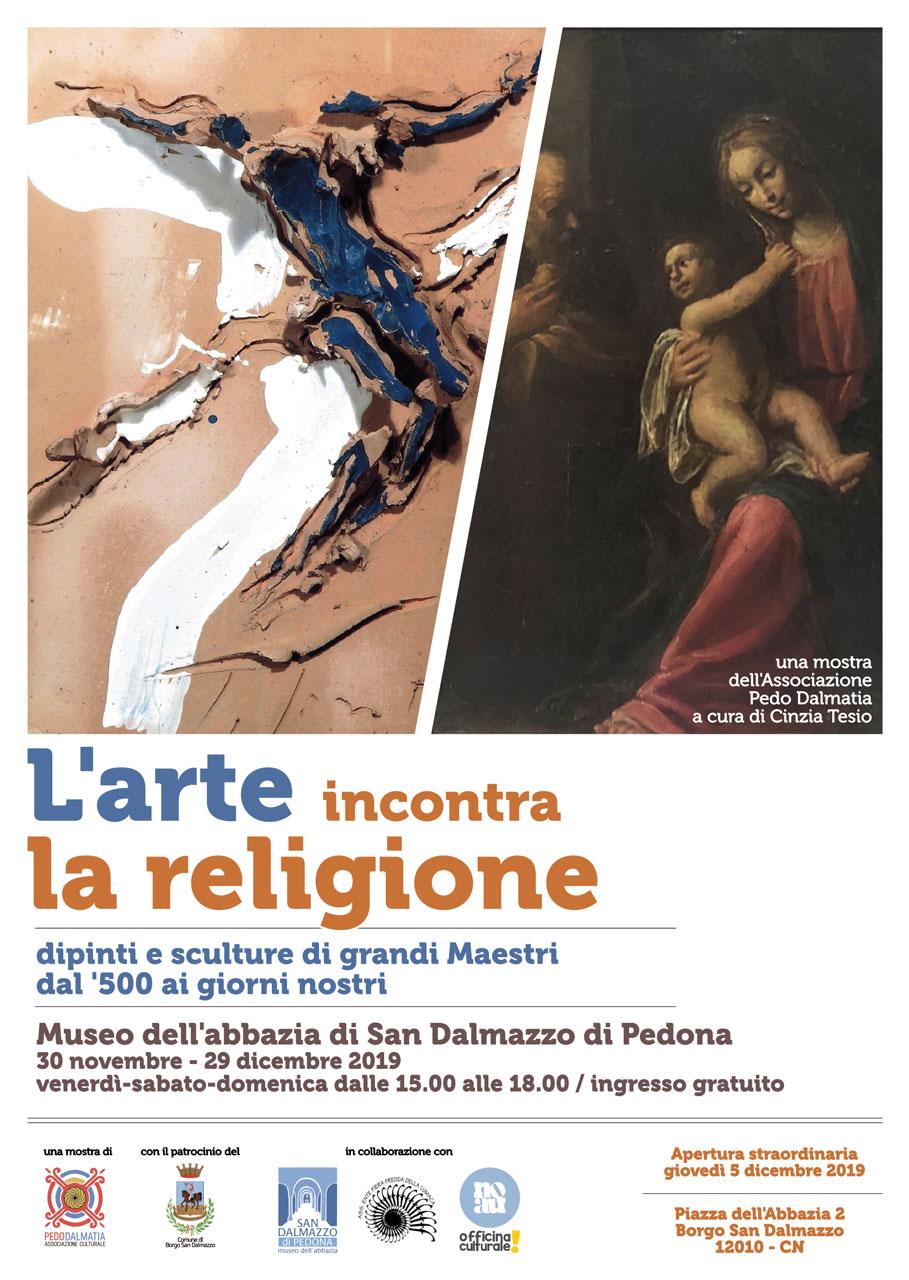 L'Arte incontra la Religione, Borgo San Dalmazzo, 2019. Picasso, Fontana, Mondino, Casorati.